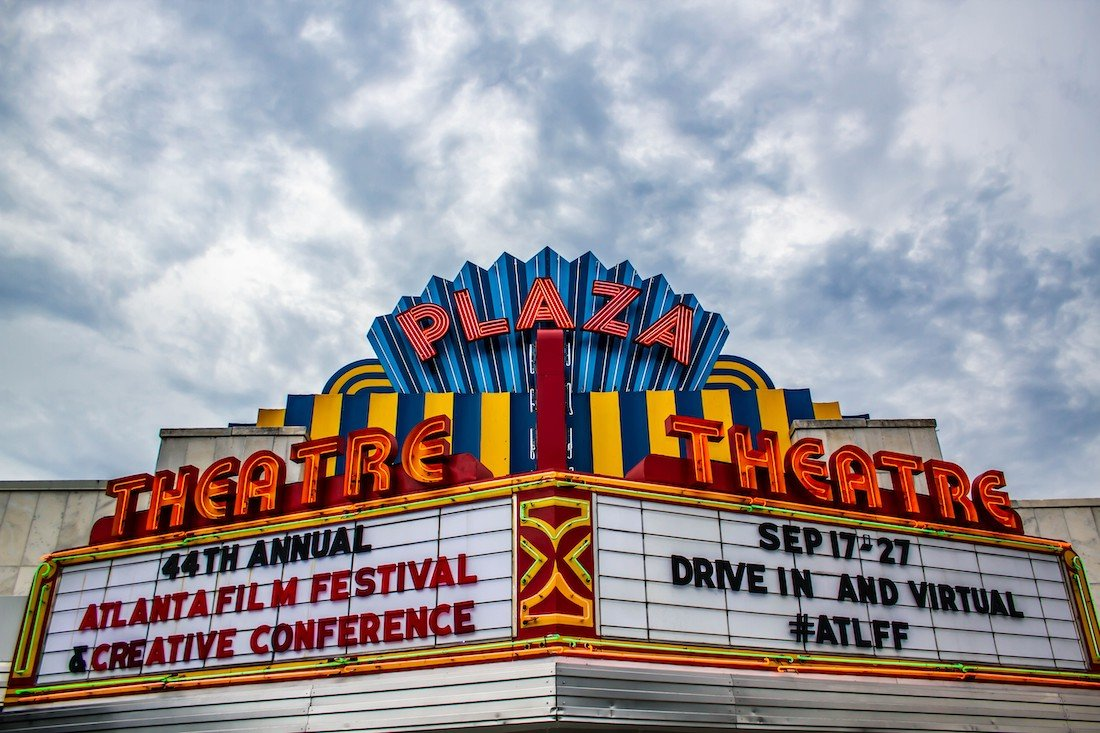 Atlanta Film Festival 2020 Marquee - Courtesy Atlanta Film Society 50 Film Festivals Worth the Entry Fee